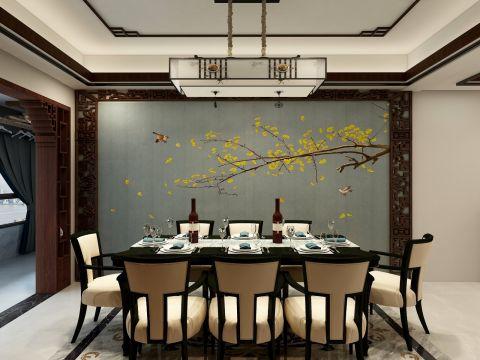 朴素温馨黄色餐厅装饰实景图