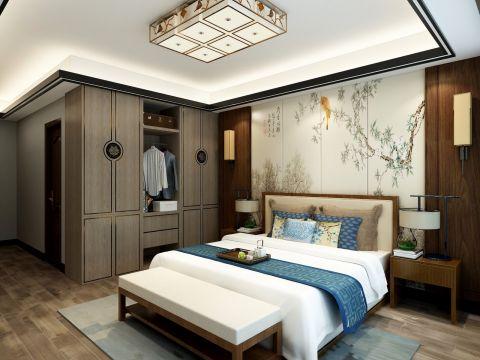 2019新中式卧室装修设计图片 2019新中式衣柜图片