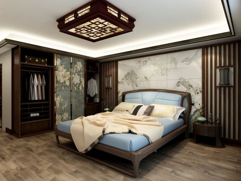 2019新中式卧室装修设计图片 2019新中式背景墙装修设计