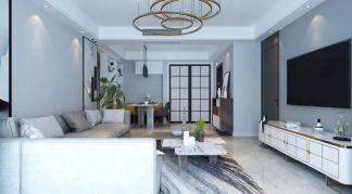 2021现代客厅装修设计 2021现代地板效果图