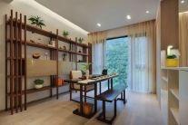 客厅绿色背景墙构造图