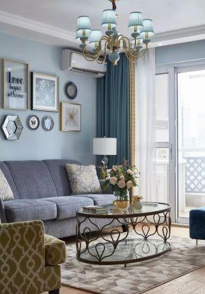 135平米美式风格装修,用Tiffany蓝打造清新浪漫家居空间,美醉了!