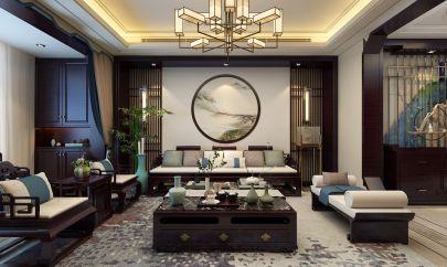 客厅米色吊顶装修案例效果图