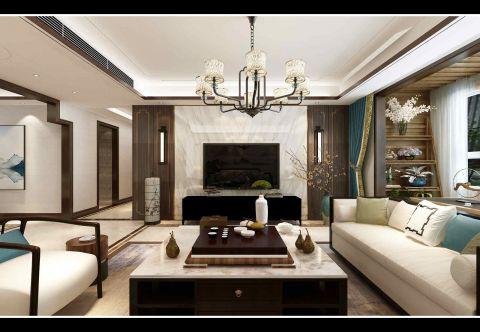 客厅沙发新中式设计效果图