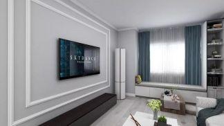 客厅电视背景墙现代简约装修案例效果图