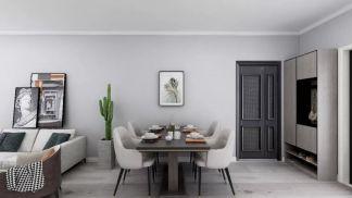 典丽矞皇现代简约黑色餐桌图片