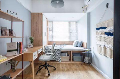 卧室蓝色背景墙装修设计图片