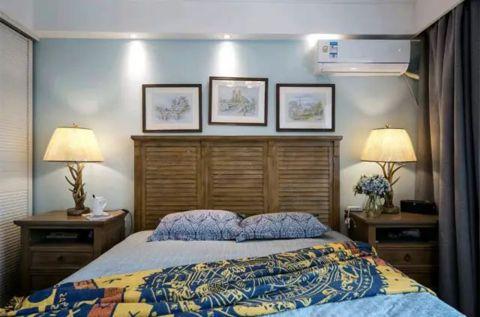 清爽淡蓝色卧室设计效果图