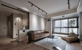 客厅白色背景墙装修案例效果图