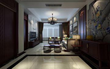 2021新中式餐厅效果图 2021新中式地板装修效果图片