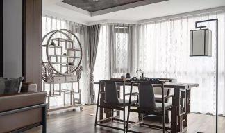 2019新中式餐厅效果图 2019新中式背景墙装修图