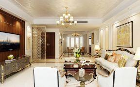客厅米色地板室内装饰