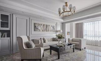2019美式客厅装修设计 2019美式照片墙装修效果图大全