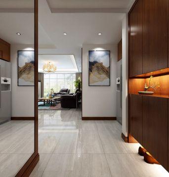 完美原木色门厅装修实景图片