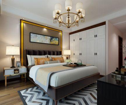 卧室背景墙现代简约室内装修设计