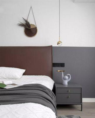 2020现代简约卧室装修设计图片 2020现代简约床头柜装修设计图片