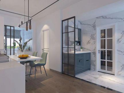 低调优雅白色客厅装饰实景图片