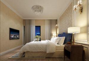 沉稳蓝色客厅案例图片