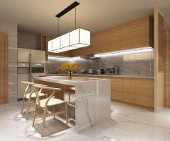 2020现代厨房装修图 2020现代背景墙装修效果图大全