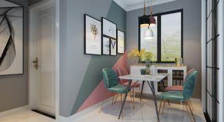 现代简约客厅背景墙装潢图