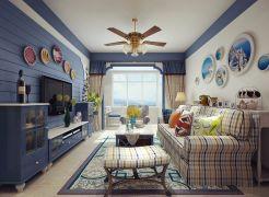 2019地中海90平米装饰设计 2019地中海二居室装修设计