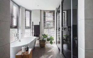 極致簡約白色浴室柜裝潢設計圖片
