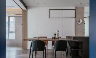 2020现代简约餐厅效果图 2020现代简约背景墙装修图