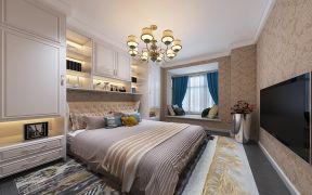 高贵风雅客厅背景墙装饰效果图
