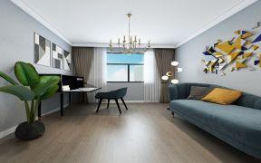 2021现代简约书房装修设计 2021现代简约照片墙装饰设计