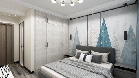 质感蓝色背景墙室内装修图片