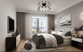 美轮美奂冷色系卧室设计效果图