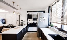 2020现代简约厨房装修图 2020现代简约橱柜装修效果图片
