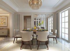 餐厅餐桌美式室内效果图