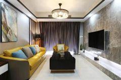 客厅窗帘现代装饰实景图
