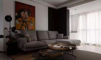 格调灰色客厅室内效果图