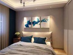 卧室米色背景墙案例图片