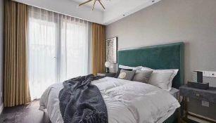 卧室背景墙现代室内装修图片