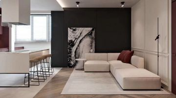 现代简约客厅背景墙装修图片