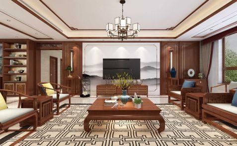 2021新中式客厅装修设计 2021新中式电视背景墙装修设计图片