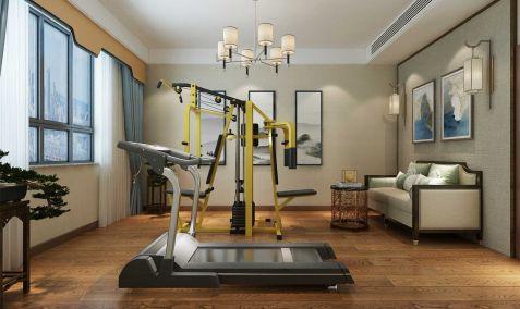 2020新中式健身房装修图 2020新中式背景墙装修设计