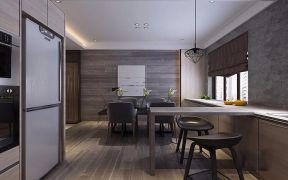 现代简约餐厅地板平面图