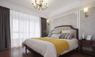 美式卧室背景墙效果图图片