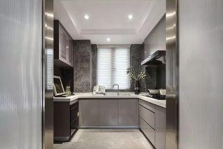 2020新中式厨房装修图 2020新中式橱柜装修效果图片