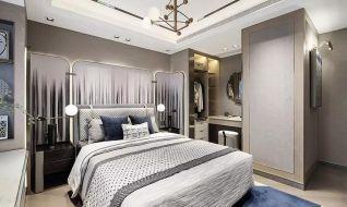 卧室吊顶新中式设计图