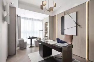 大气新中式白色落地窗装饰设计图片