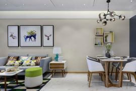 自然现代黄色背景墙设计图欣赏