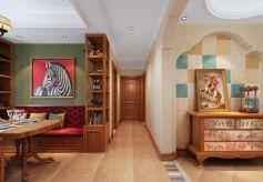 低调优雅客厅背景墙装潢实景图