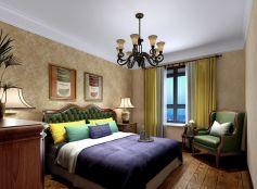 卧室白色床装饰设计