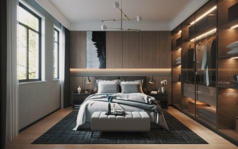 现代简约卧室背景墙装饰设计
