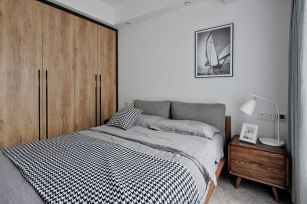简约卧室背景墙装修效果图大全